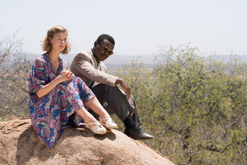 Rosamund Pike on Her Year of Filming in London, Botswana, and Morocco