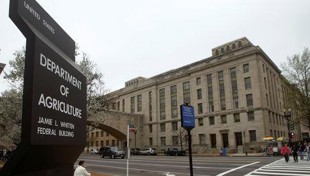 FILE PHOTO: The U.S. Department of Agriculture is seen in Washington, DC, U.S., March 18, 2012.   REUTERS/Gary Cameron/File Photo