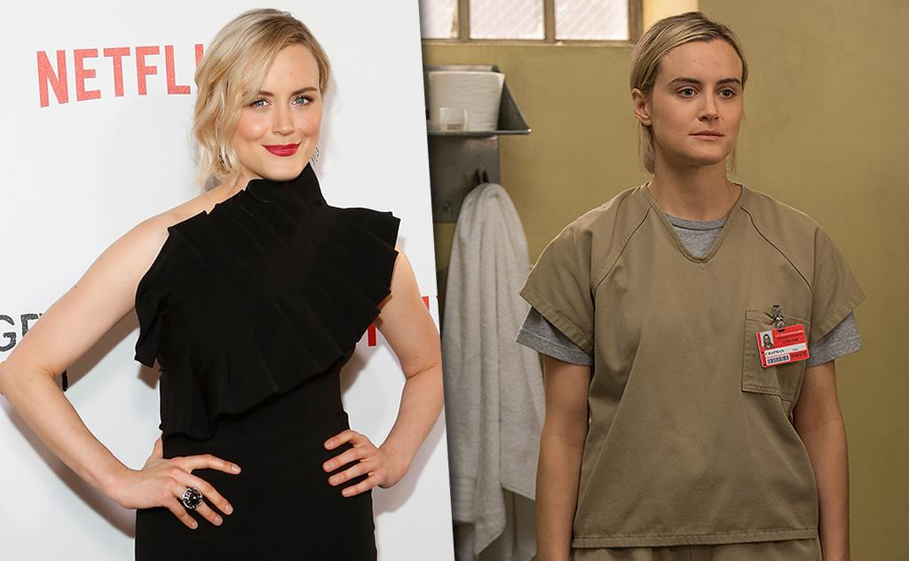 """<p>It's right there in black and white: Schilling cleans up real nice outside her tan prison outfit. The actress, whose Piper is based on the real-life Piper whose book of the same name chronicles her women's prison experience, <a rel=""""nofollow"""" href=""""http://www.vulture.com/2013/07/oitnbs-taylor-schilling-gets-skeeved-out-on-set.html"""">admits that</a>, as many people have done with <i>OITNB</i>, she has binge-watched a TV show herself: She watched three seasons of <i>Downton Abbey</i> in a week. (Photo: Getty Images/Netflix) </p>"""