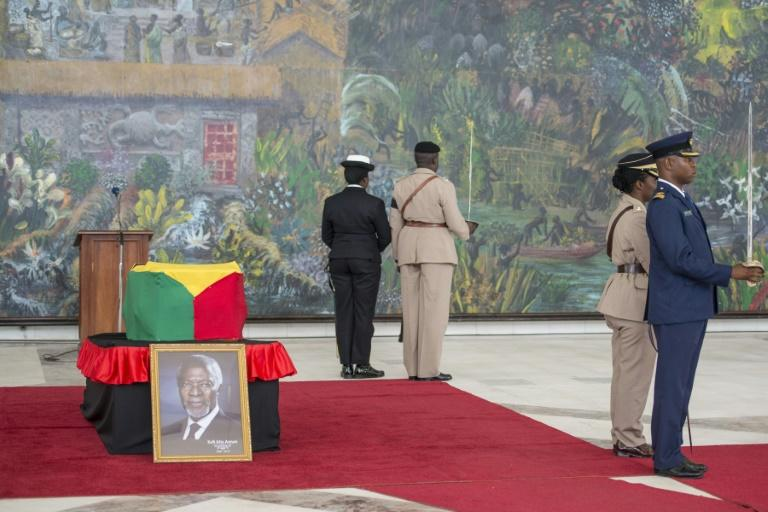 Kofi Annan's body was flown back home to Ghana on Monday and he will be buried after a state funeral on Thursday