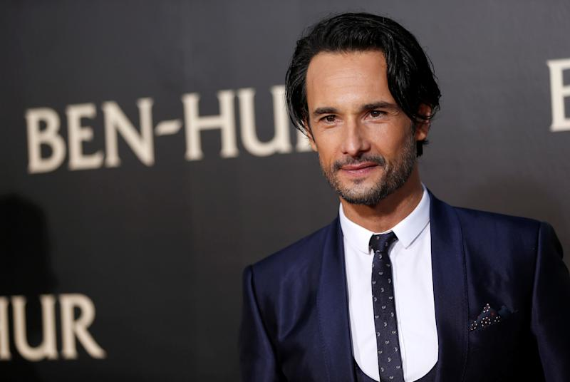 "Cast member Rodrigo Santoro poses at the premiere for the movie ""Ben-Hur"" at TCL Chinese theatre in Hollywood, California U.S., August 16, 2016. REUTERS/Mario Anzuoni"