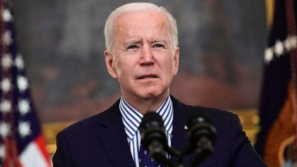 PHOTO: President Joe Biden makes remarks from the White House after his coronavirus pandemic relief legislation passed in the Senate, in Washington, March 6, 2021. (Erin Scott/Reuters)
