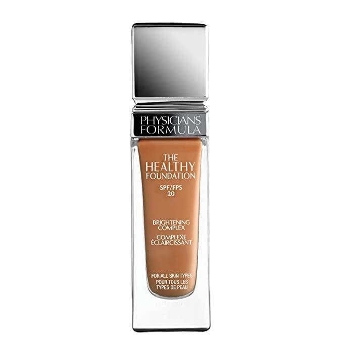 <p>The <span>Physicians Formula The Healthy Foundation</span> ($13) features a medium-coverage formula that'll leave your skin looking soft and velvety without feeling too heavy or weighed down.</p>