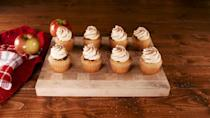 """<p>If you don't have time to chill pie dough, make these instead.</p><p>Get the recipe from <a href=""""https://www.delish.com/cooking/recipe-ideas/a29443041/apple-pie-cupcakes-recipe/"""" rel=""""nofollow noopener"""" target=""""_blank"""" data-ylk=""""slk:Delish"""" class=""""link rapid-noclick-resp"""">Delish</a>.</p>"""