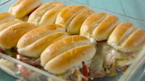 """<p>No need to travel to Philly for these.</p><p>Get the recipe from <a href=""""https://www.delish.com/cooking/recipes/a47737/philly-cheesesteak-pull-apart-sliders-recipe/"""" rel=""""nofollow noopener"""" target=""""_blank"""" data-ylk=""""slk:Delish"""" class=""""link rapid-noclick-resp"""">Delish</a>.</p>"""
