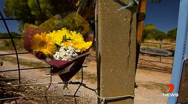 Tributes have been left for the family at the property in Willunga. Source: 7 News