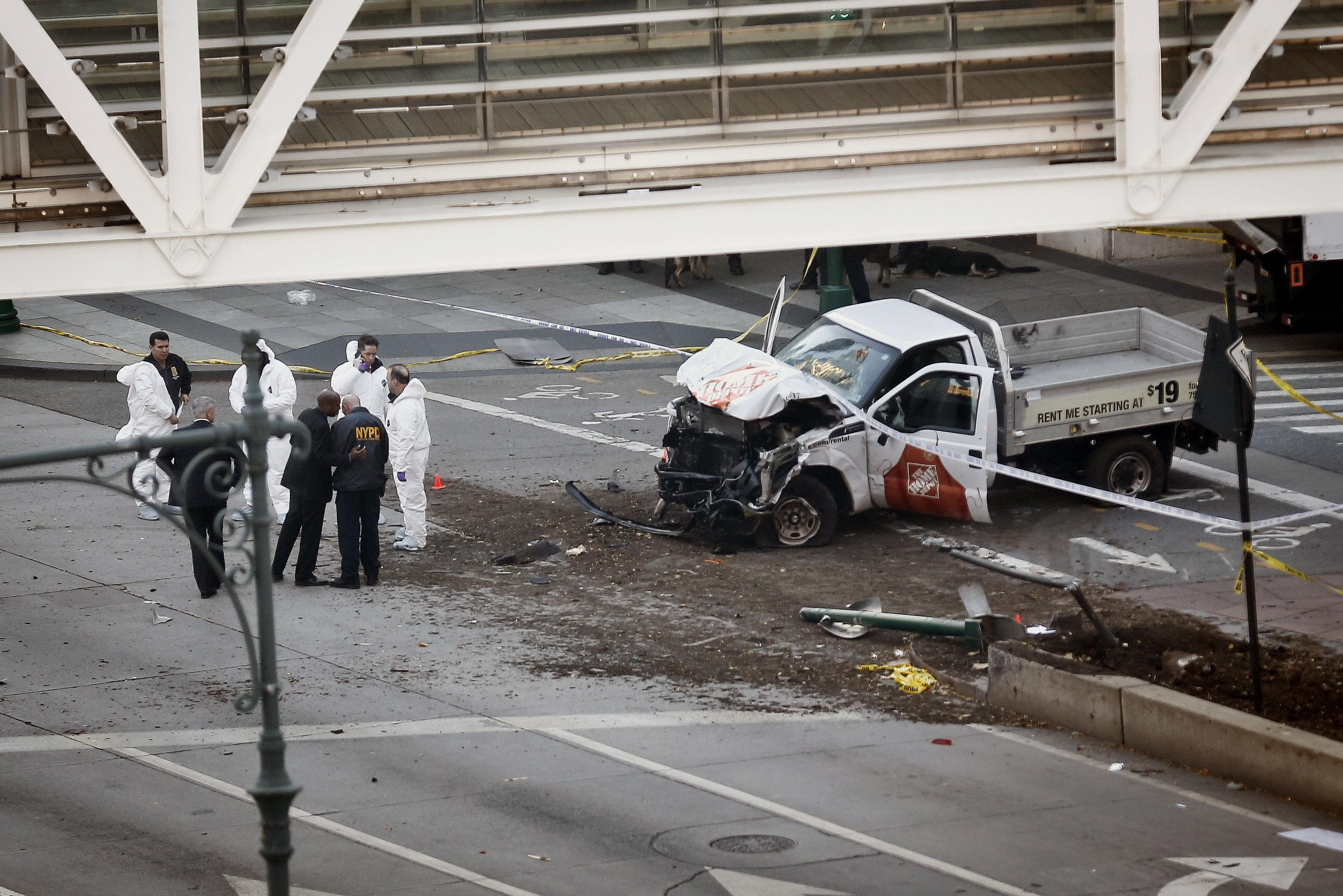 The truck used to carry out the attack (Picture: Getty)