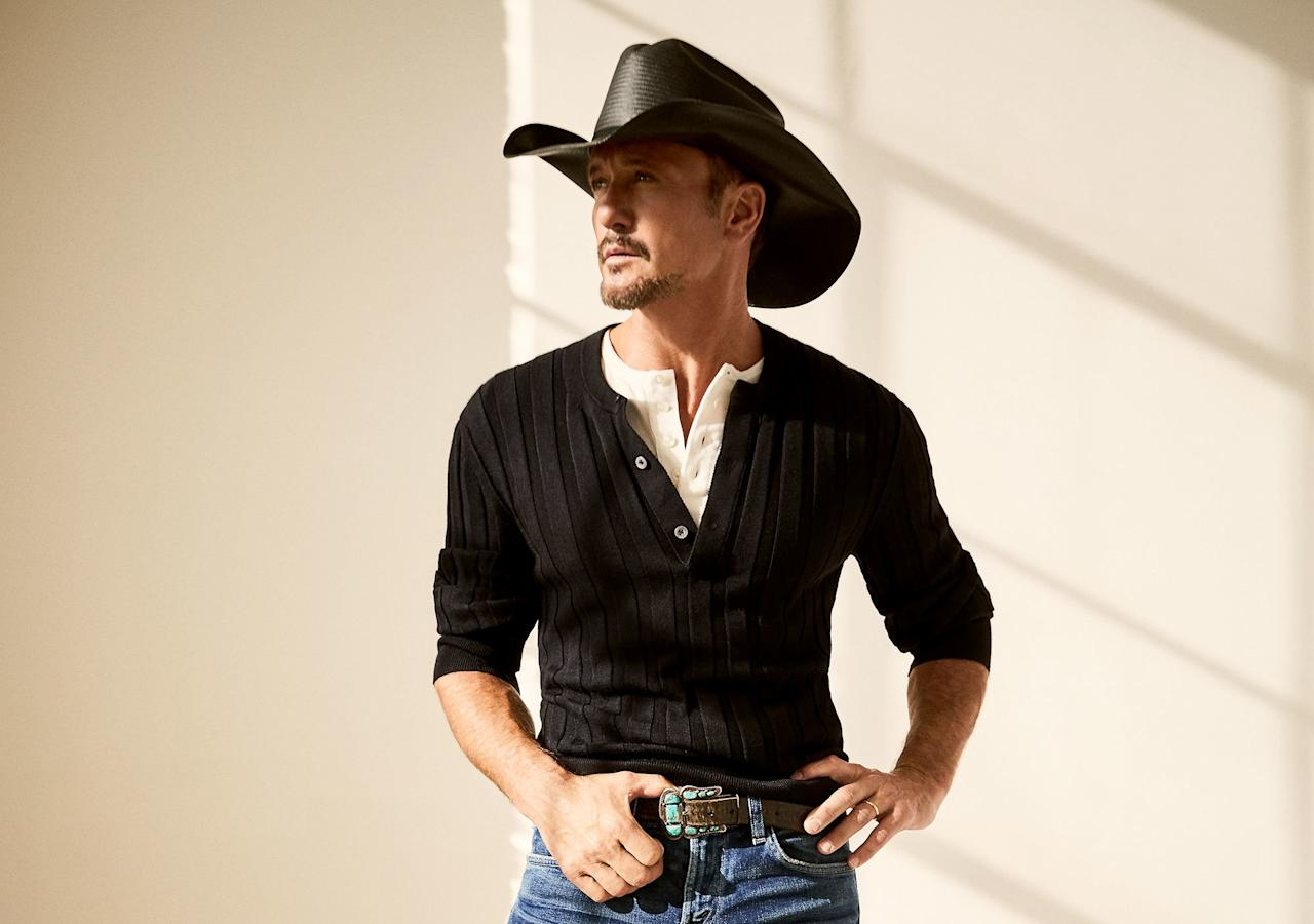 "Tim McGraw is 52 years old, but you wouldn't know it from his abs.  McGraw is gearing up to release a health and fitness book,<em> Grit & Grace</em>, which details his 10-year transformation, and he's been posting some pretty <a href=""https://www.instagram.com/p/B4IWQ2dgAB5/"">scorching hot photos</a> to his Instagram as of late.   In the name of research, we compiled every shirtless photo of the country singer we could find. We would like to preemptively apologize to <a href=""https://people.com/country/tim-mcgraw-faith-hill-20th-wedding-anniversary-photos/"">Tim's lovely wife, Faith Hill</a>, for lusting after her husband."