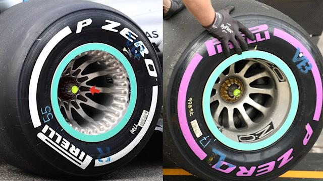 Mercedes F1 wheel detail Japanese GP 2018