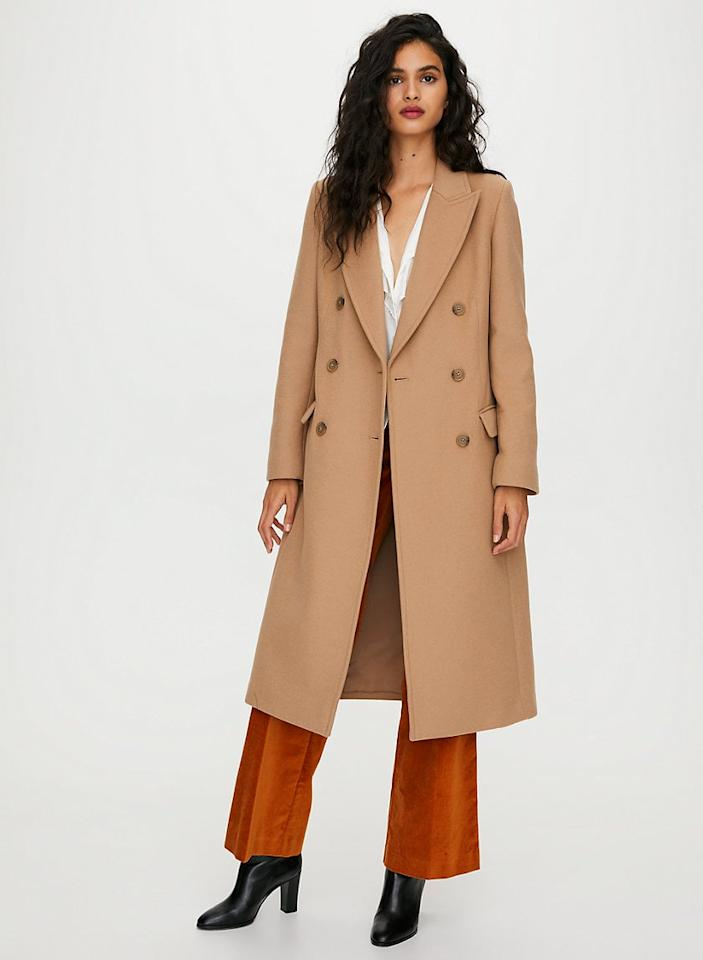 "<p><a href=""https://www.popsugar.com/buy/Wilfred-Kerr-Double-Breasted-Wool-Maxi-Coat-538692?p_name=Wilfred%20Kerr%20Double-Breasted%20Wool%20Maxi%20Coat&retailer=aritzia.com&pid=538692&price=249&evar1=fab%3Aus&evar9=47089521&evar98=https%3A%2F%2Fwww.popsugar.com%2Ffashion%2Fphoto-gallery%2F47089521%2Fimage%2F47089810%2FWilfred-Kerr-Double-Breasted-Wool-Maxi-Coat&prop13=mobile&pdata=1"" rel=""nofollow"" data-shoppable-link=""1"" target=""_blank"" class=""ga-track"" data-ga-category=""Related"" data-ga-label=""https://www.aritzia.com/us/en/product/kerr-wool-coat/74081.html?dwvar_74081_color=15033"" data-ga-action=""In-Line Links"">Wilfred Kerr Double-Breasted Wool Maxi Coat </a> ($249, originally $428 )</p>"