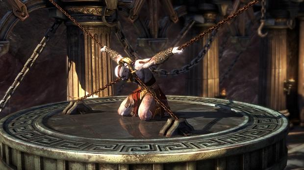 God of War: Ascension Kratos chained up