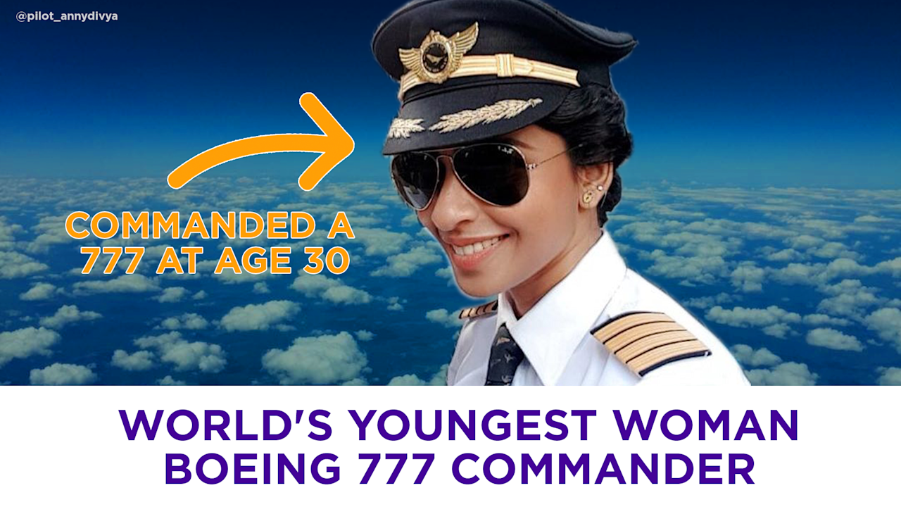 65bff543ccc The world s youngest woman commander of a Boeing 777  Video