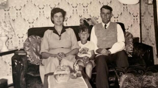 Pearl Crewe, her son Jim and her husband Herbert are pictured at their home in Corner Brook, circa 1953.