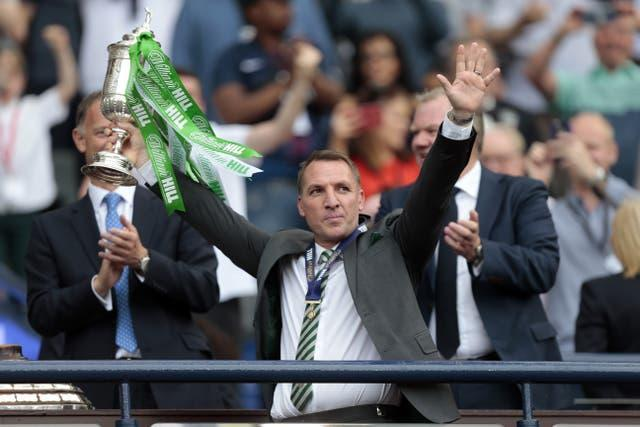 A second Scottish Cup and treble was sealed with a 2-0 win over Motherwell (Graham Stuart/PA).