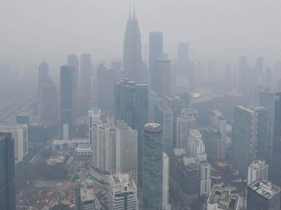 Kuala Lumpur is shrouded in haze (AFP/Getty Images)