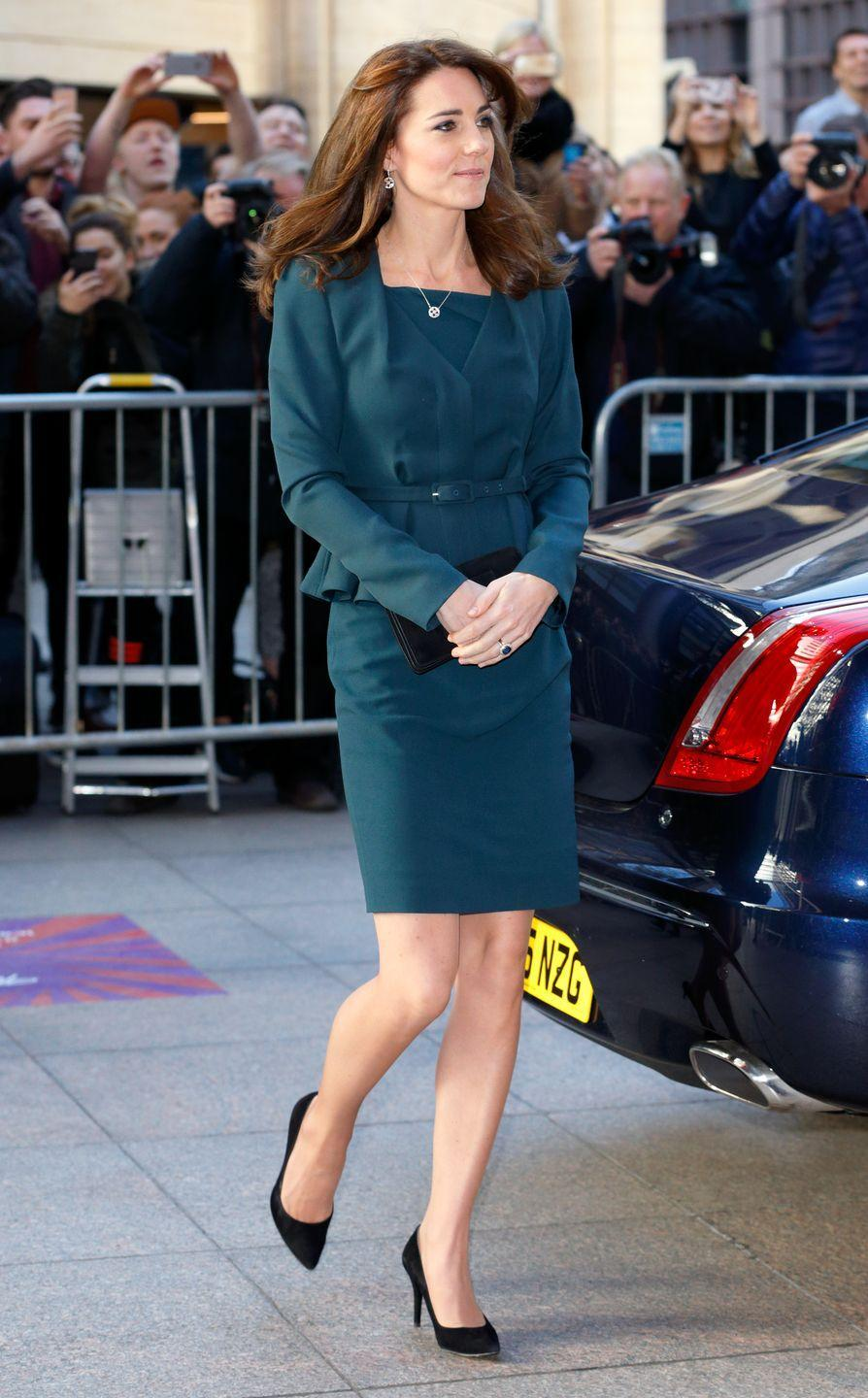 <p>She wore the L.K. Bennett outfit again for an ICAP Charity Day event in London.</p>