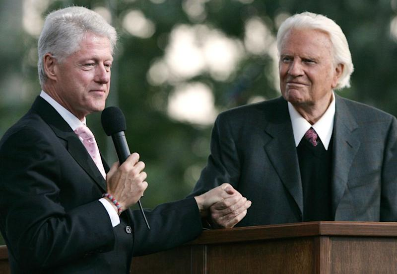He was firm friends with Bill Clinton. Photo: Getty Images
