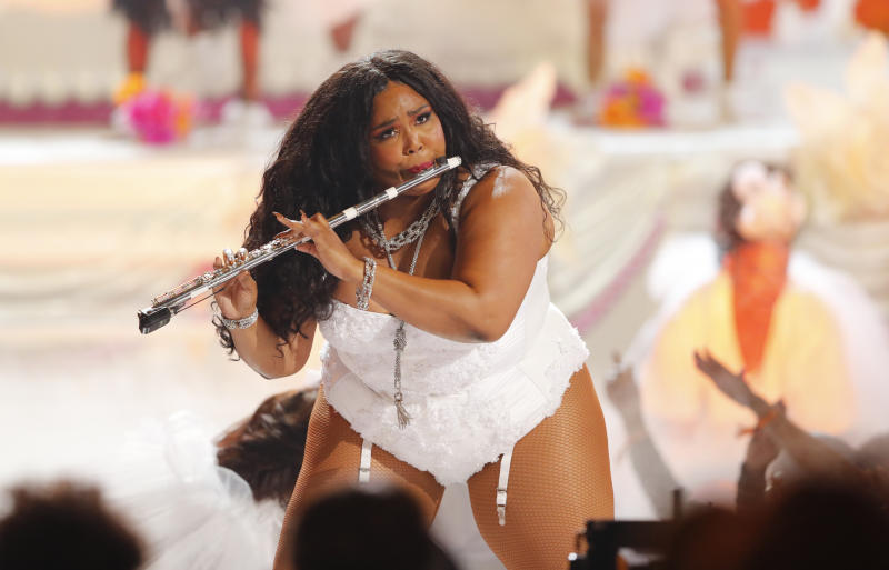 2019 BET Awards - Show - Los Angeles, California, U.S., June 23, 2019 - Lizzo performs. REUTERS/Mike Blake