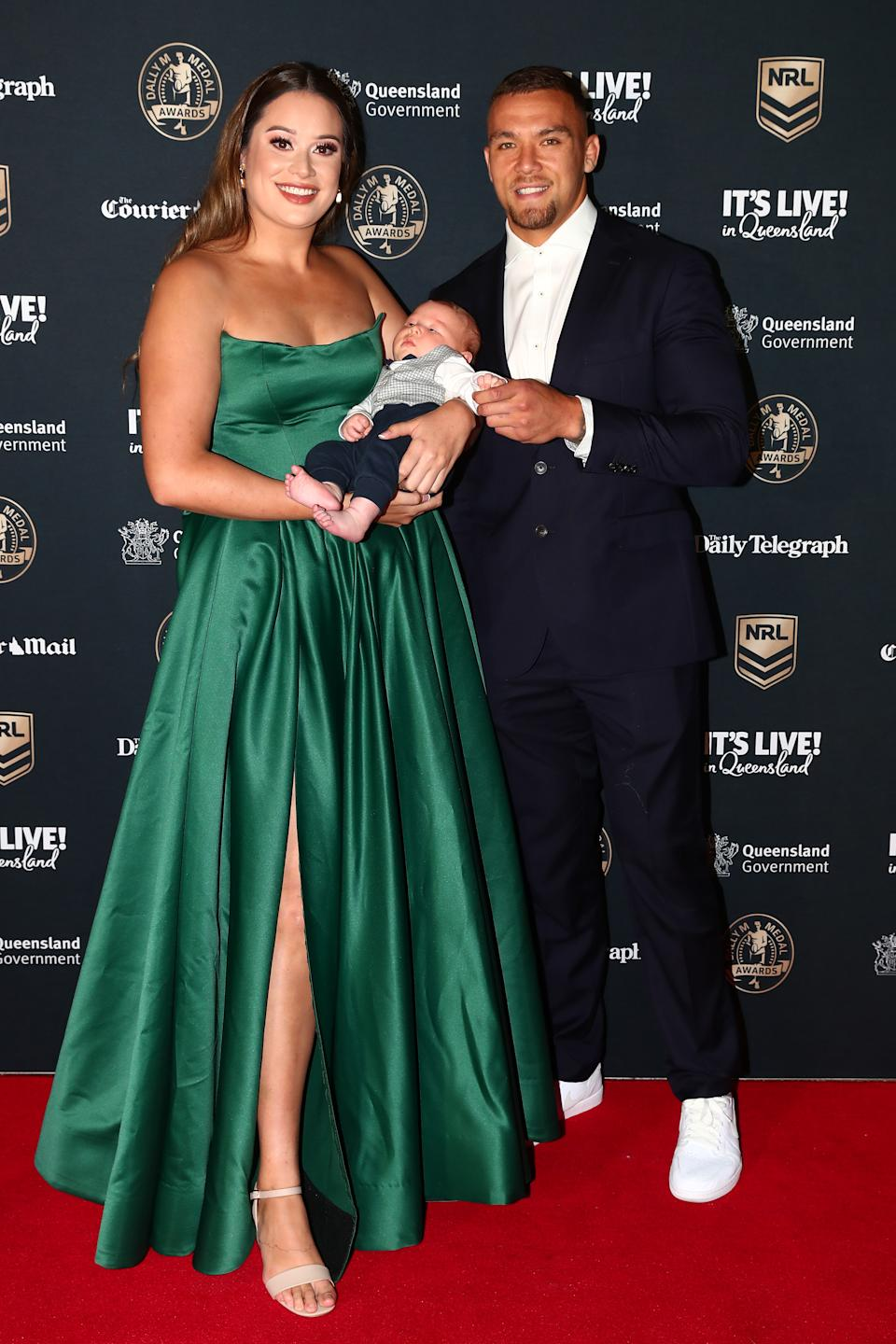 Dally M James Fisher-Harris of the Panthers and his partner Natalie Apikotoa