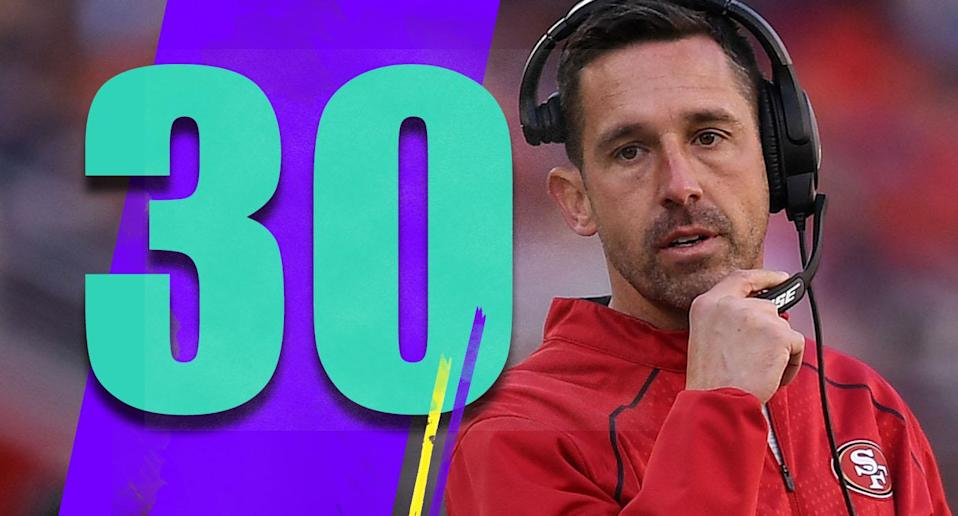 <p>Year three for Kyle Shanahan will be a big one. He has gotten a lot of leeway for two terrible seasons. It's hard to blame Jimmy Garoppolo's injury for everything. (Kyle Shanahan) </p>