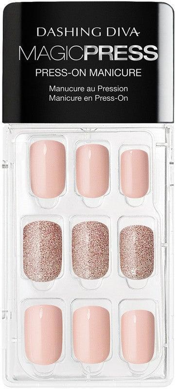 """<h2>Dashing Diva Magic Press Go-Go Glitter Press-On Gel Nails</h2> <br>Dashing Diva press-on nails are so easy to use, you can change your look between Zoom calls at home. Just peel off the adhesive tape, prep your nails with the included alcohol pad, and stick 'em on. The selection, while is primarily square, has a wide variety of styles.<br><br><strong>Dashing Diva</strong> Dashing Diva Magic Press-On Gel Nails, $, available at <a href=""""https://go.skimresources.com/?id=30283X879131&url=https%3A%2F%2Fwww.ulta.com%2Fmagic-press-go-go-glitter-press-on-gel-nails%3FproductId%3Dpimprod2000918"""" rel=""""nofollow noopener"""" target=""""_blank"""" data-ylk=""""slk:Ulta Beauty"""" class=""""link rapid-noclick-resp"""">Ulta Beauty</a><br>"""