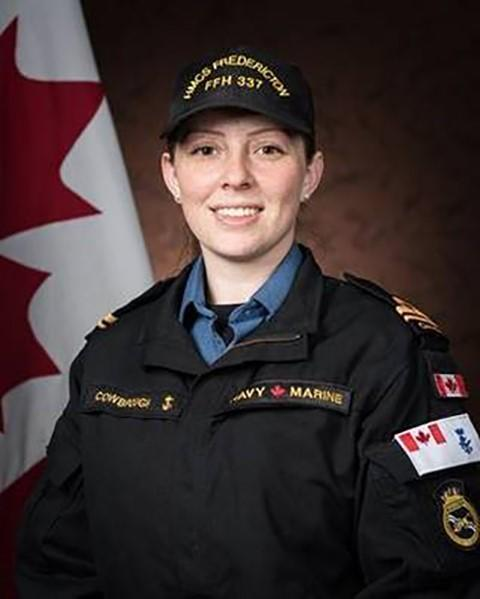 Sub-Lt. Abbigail Cowbrough, a maritime systems engineering officer originally from Toronto, is shown in a Department of National Defence handout photo. She was confirmed dead on Thursday. (THE CANADIAN PRESS/HO-Department of National Defence)
