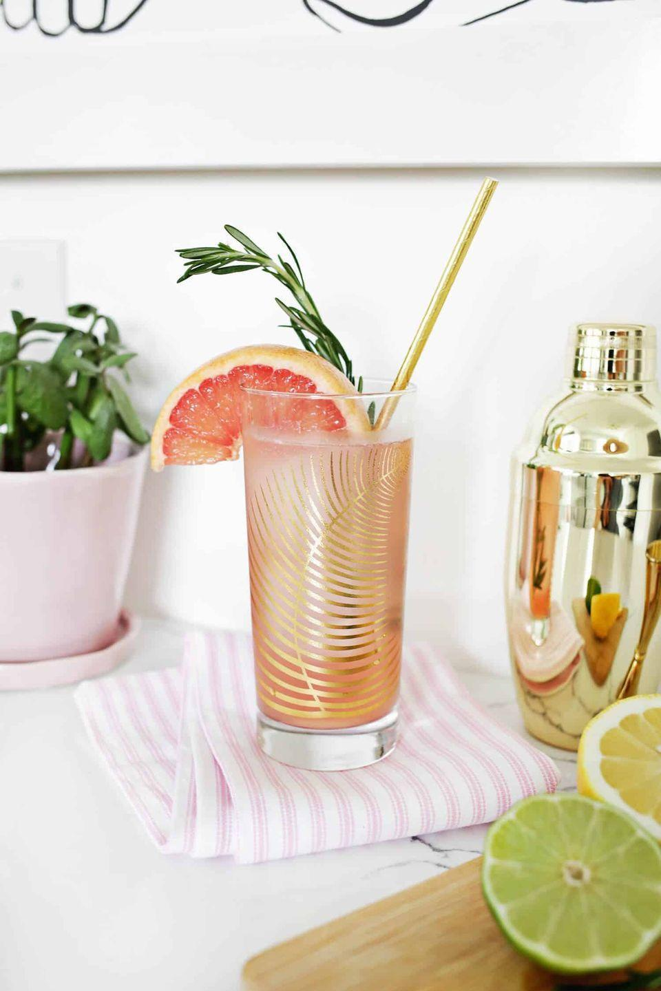 "<p>This sparkling mocktail will give you all the buzz, without the hangover. Serve these at your next girls night and see how fast they fly.</p><p> <strong><em>Get the recipe at <a href=""https://abeautifulmess.com/2017/04/grapefruit-citrus-sparkling-mocktail.html"" rel=""nofollow noopener"" target=""_blank"" data-ylk=""slk:A Beautiful Mess"" class=""link rapid-noclick-resp"">A Beautiful Mess</a>.</em></strong></p>"