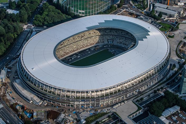 The New National Stadium, the main stadium for the Tokyo 2020 Olympics. (Getty Images)