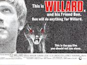 <p>Based on the novel <em>Ratman's Notebooks</em> by Stephen Gilbert, this tells the story of a social misfit who loves rats. Sure, why not? Bruce Davison (whom you may recognize from a few of the <em>X-Men</em> movies) plays Willard, the titular rat fan. I think we can all agree that there's nothing grosser than rats, and that's the main point to drive home here. </p>