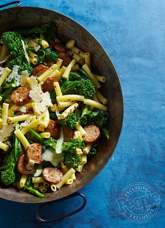 "This veggie and meat-filled pasta from the best-selling cookbook author and restaurateur is so easy to make you can whip it up in 30 minutes or less.  Get the recipe <a href=""https://people.com/food/lidia-bastianichs-ziti-with-sausage-and-broccoli-rabe/"" target=""_blank"">HERE</a>."