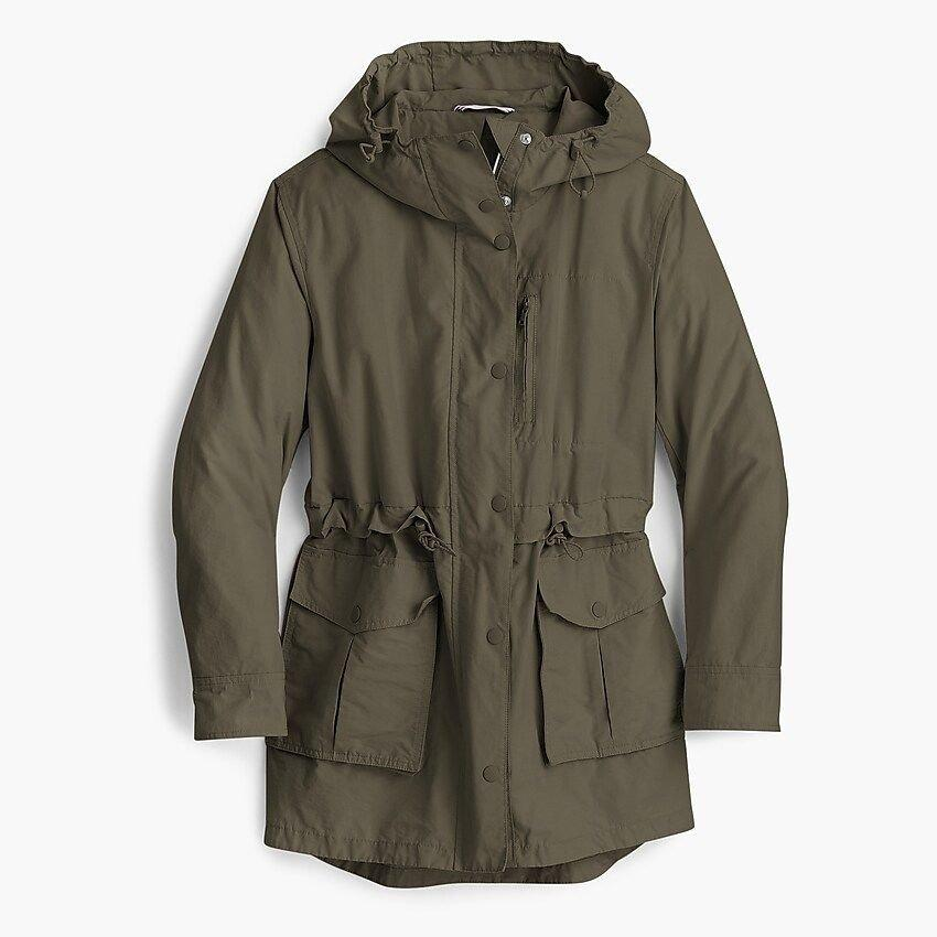 "<p>The only thing more unpredictable than the final score is the weather. Prep for anything with a <b>Perfect Rain Jacket </b>that's cute enough to play into your game day look, rain or shine. </p> <p><b>BUY IT</b>: $120; <a href=""http://www.anrdoezrs.net/links/7885610/type/dlg/sid/SL%2C12StyleEssentialsforFootballGames%2Ccribbb%2C%2CIMA%2C636512%2C201909%2CI/https://www.jcrew.com/p/womens_category/maternity/coats_and_jackets/perfect-rain-jacket/H8701 "" target=""_blank"">jcrew.com</a> </p>"