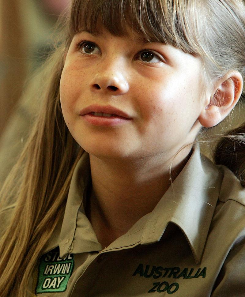 Bindi Irwin attends the official launch of the Australian Wildlife Hospital at Australia Zoo on November 15, 2008 on the Sunshine Coast, Australia. The opening ceremony timed to coincide with the second annual Steve Irwin Day celebration realised Steve Irwin's dream to establish the world's largest wildlife hospital to honour his mother Lyn Irwin who had been a pioneer in wildlife care in Queesnalnd, Australia. The new hospital is also a living memorial to Steve Irwin. (Photo by Lisa Maree Williams/Getty Images)