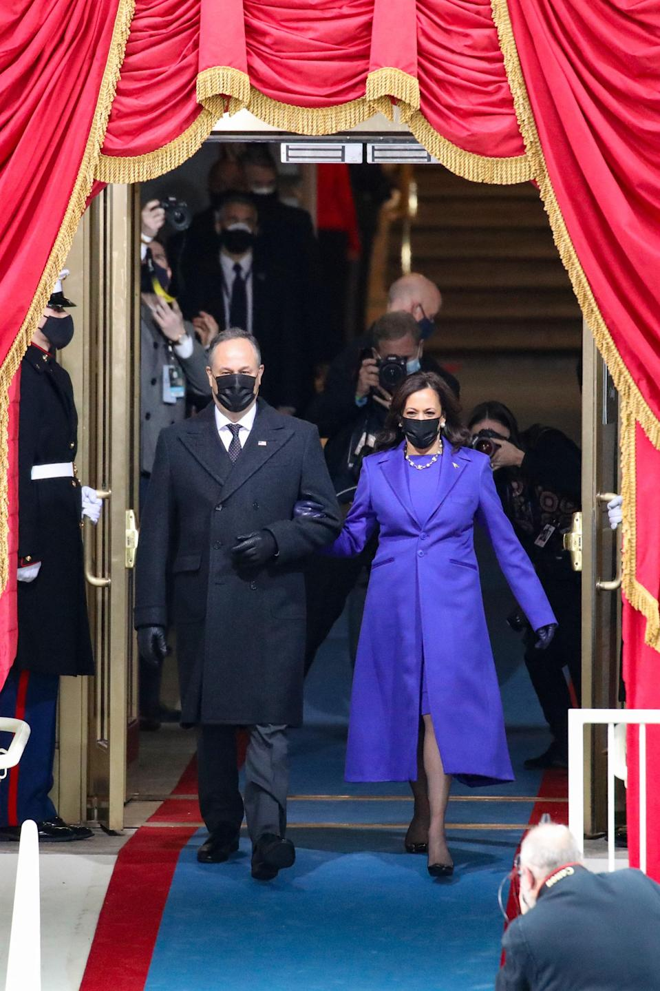 """<a href=""""https://www.teenvogue.com/story/kamala-harris-inauguration-outfit?mbid=synd_yahoo_rss"""" rel=""""nofollow noopener"""" target=""""_blank"""" data-ylk=""""slk:Vice President Kamala Harris in Christopher John Rogers"""" class=""""link rapid-noclick-resp"""">Vice President Kamala Harris in Christopher John Rogers</a>… need we say more? People throw around the """"match made in heaven"""" moniker way too often but in this case, it truly applies!"""