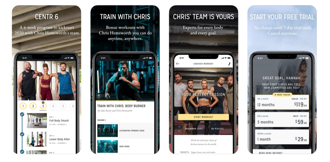 """<p>If you're looking to get shredded like one of your favorite Avengers, then you're in luck. <a href=""""https://www.menshealth.com/fitness/a26086239/chris-hemsworth-centr-app/"""">Centr, the fitness and wellness app created by Chris Hemsworth</a>, is offering a free six-week membership for you, with access to his team of experts. The offer is only available until the end of the month, so you need to sign up fast to get your workout with Thor.</p><p>Available on<a href=""""https://apps.apple.com/us/app/centr-by-chris-hemsworth/id1382530817""""> iOS</a> and<a href=""""https://play.google.com/store/apps/details?id=com.centr.app&hl=en_US""""> Android</a>. </p>"""