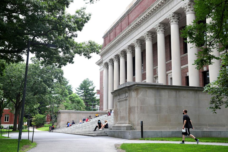 <p>A view of Harvard Yard on the campus of Harvard University on July 08, 2020 in Cambridge, Massachusetts.</p> (Getty Images)