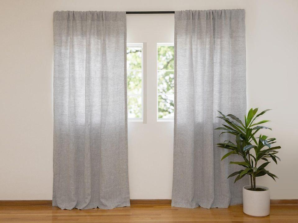 "<p>A go-to for all things bedding, bath, and tabletop, Parachute recently launched a curtain collection made with the same high-quality fabric that their shoppers know and love. Dress your windows in pure linen panels, available in light gray (seen here) and white, and keep them in place with their assortment of matte black hardware.</p><p><a class=""link rapid-noclick-resp"" href=""https://go.redirectingat.com?id=74968X1596630&url=https%3A%2F%2Fwww.parachutehome.com%2Fproducts%2Fwashed-linen-curtain&sref=https%3A%2F%2Fwww.goodhousekeeping.com%2Fhome-products%2Fg34524563%2Fbest-places-to-buy-curtains%2F"" rel=""nofollow noopener"" target=""_blank"" data-ylk=""slk:SHOP NOW"">SHOP NOW</a><br></p>"