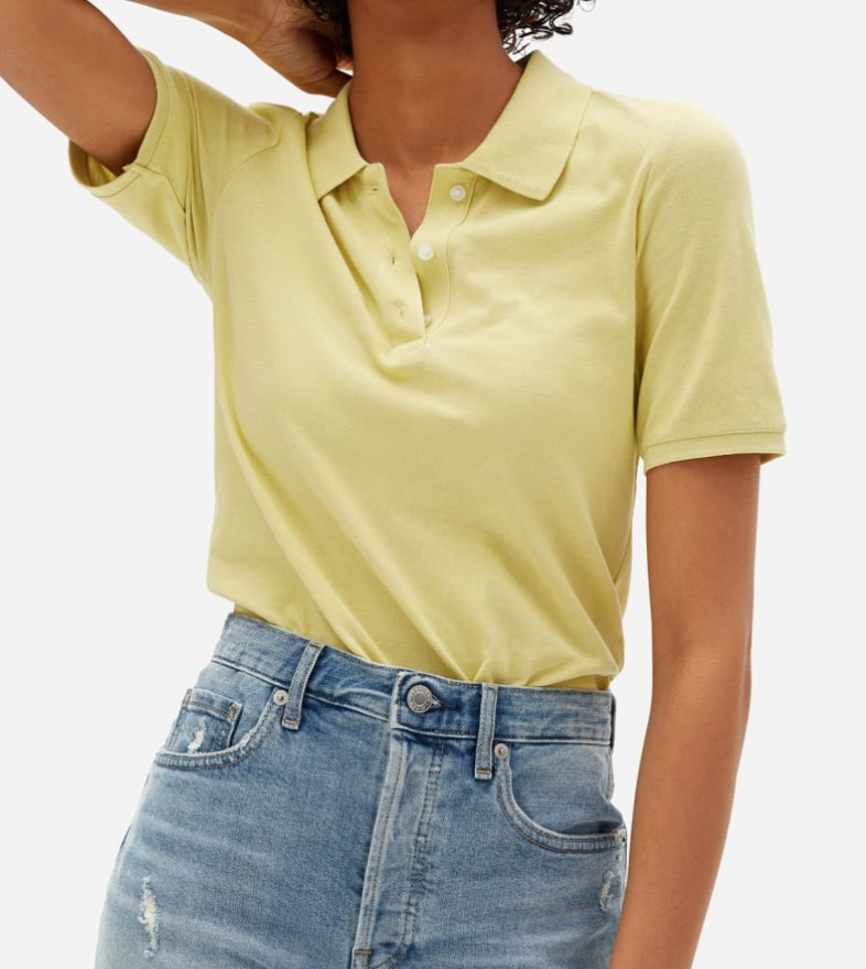 Everlane The Organic Cotton Pique Polo in Anise