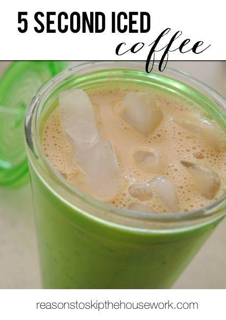 """<p>All you need is instant coffee, flavored syrup, and half & half to make a cup of iced coffee in five seconds.</p><p>Get the tutorial from <a href=""""http://www.reasonstoskipthehousework.com/5-second-iced-coffee/#_a5y_p=1630208"""" rel=""""nofollow noopener"""" target=""""_blank"""" data-ylk=""""slk:Reasons to Skip the Housework"""" class=""""link rapid-noclick-resp"""">Reasons to Skip the Housework</a>.</p>"""