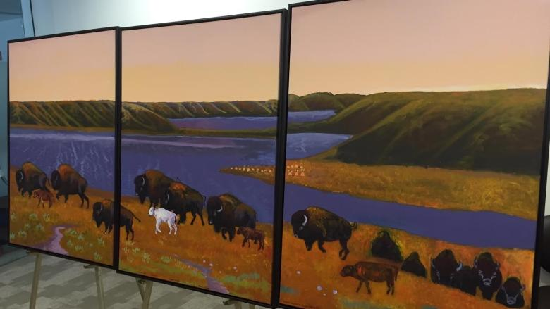 Buffalo, symbol of strength and perseverance, highlights new art at Regina cancer centre
