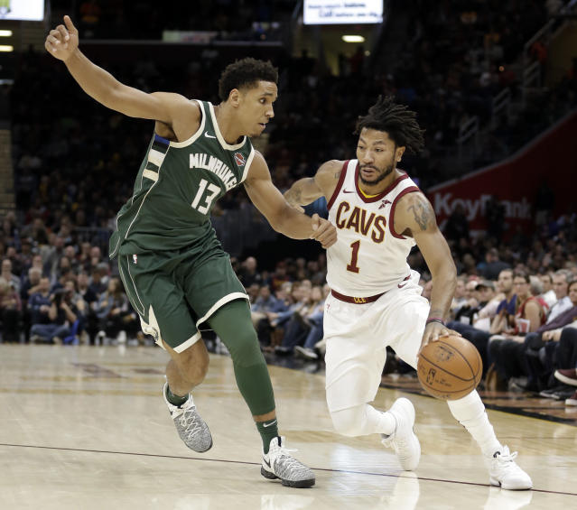 "For the second straight season, <a class=""link rapid-noclick-resp"" href=""/nba/players/4387/"" data-ylk=""slk:Derrick Rose"">Derrick Rose</a> has reportedly left his team in the middle of the season without getting clearance to do so. (AP)"