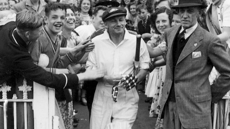 Don Bradman, pictured here making his way onto the MCG in 1948.