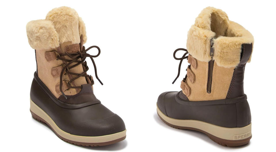 Sperry Pacifica Alpine Faux Fur Collar Boot are $85 off. (Photo: Nordstrom Rack)