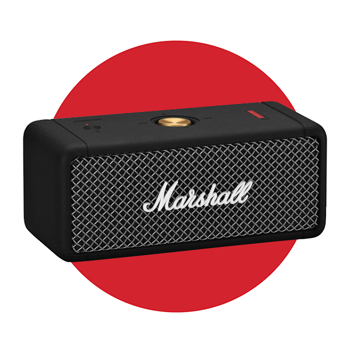 """<p><strong>marshall</strong></p><p>marshallheadphones.com</p><p><strong>$149.99</strong></p><p><a href=""""https://go.redirectingat.com?id=74968X1596630&url=https%3A%2F%2Fwww.marshallheadphones.com%2Fus%2Fen%2Femberton.html&sref=https%3A%2F%2Fwww.menshealth.com%2Ftechnology-gear%2Fg36954813%2Fmens-health-outdoor-awards-2021%2F"""" rel=""""nofollow noopener"""" target=""""_blank"""" data-ylk=""""slk:BUY IT HERE"""" class=""""link rapid-noclick-resp"""">BUY IT HERE</a></p><p>A small-yet-powerful Bluetooth speaker is all you need to add some tunes to your campsite. This one features technology to give you 360-degree sound, no matter where you are, and has over 20 hours of playtime (and when you need a recharge, 20 minutes will give you five more hours). To top it off, it's pretty damn sexy, too.</p>"""