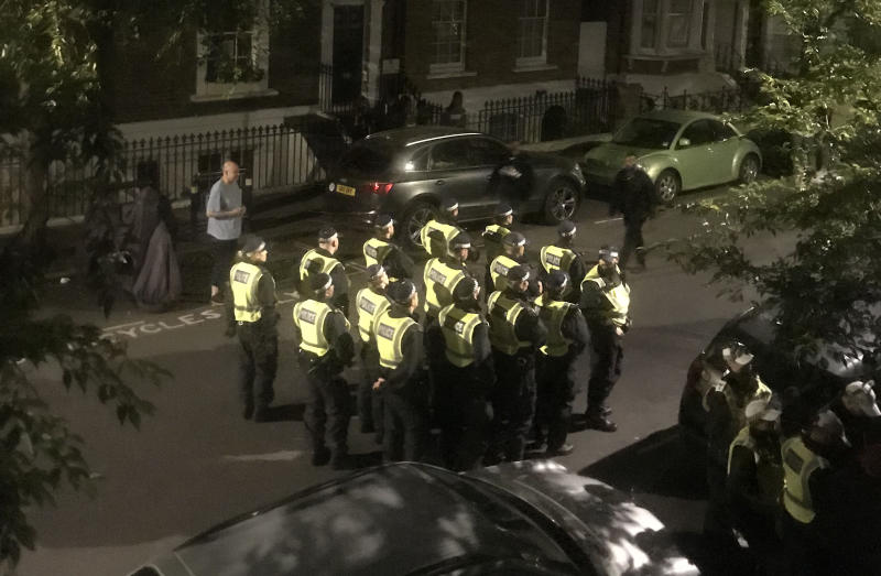 Police were called to Tavistock Terrace in Archway, London, on Friday night after more than 160 people attended a house party on the street. (PA)