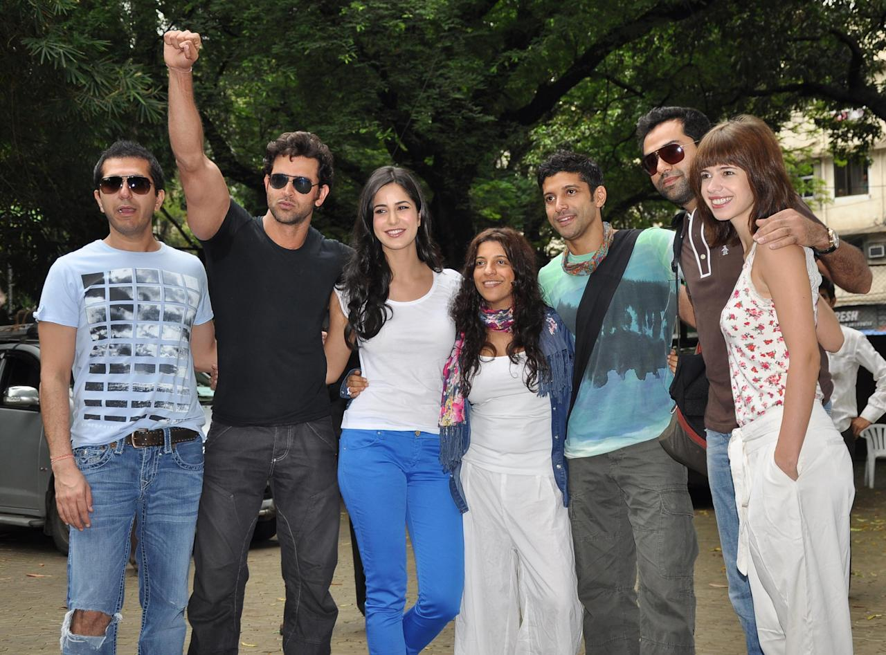 Film promotions are getting innovative every year and there is little that our B-town stars would stop at to increase awareness about their film. So, it was hardly a surprise when the 'Zindagi Na Milegi Dobara' stars decided to kick-off a road trip from Mumbai to Delhi to promote their film, which also features a road trip in it
