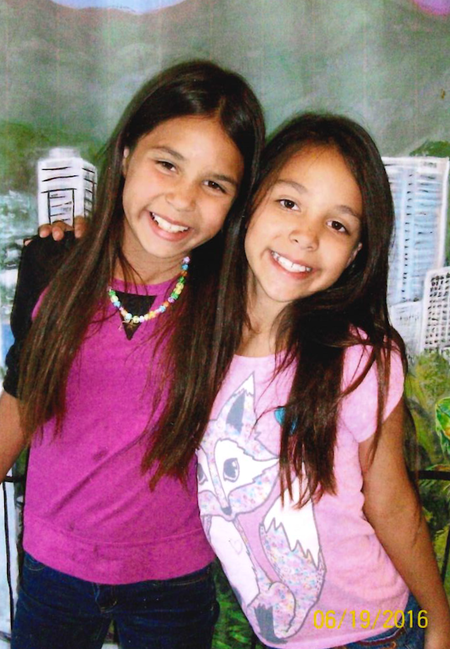 Crystal's daughters, Surai and Nova, in 2016. (Photo: Crystal Munoz).
