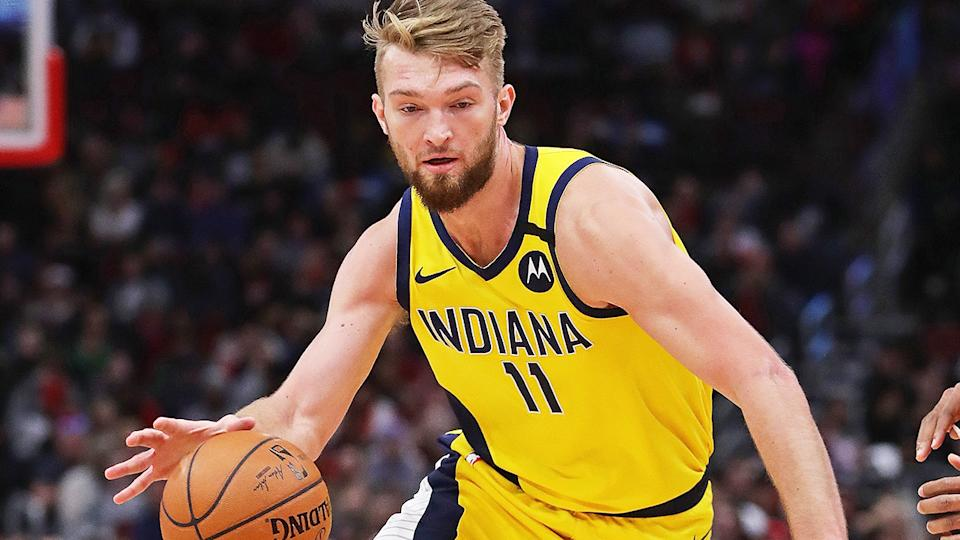 Domantas Sabonis, playing for the Indiana Pacers.