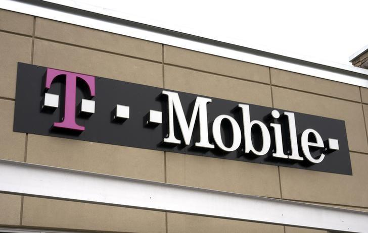 A T-Mobile store sign is seen in Broomfield, Colorado