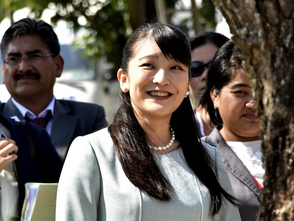 Japanese Princess Mako, the eldest daughter of Crown Prince Akishino, attends the celebrations to commemorate of the 120th anniversary of the Japanese immigration to Bolivia at the Colonia Japonesa San Juan (San Juan Japanese Colony), 140 km nortwest of Santa Cruz, Bolivia, on July 18, 2019. - Mako is on a five-day officila visit to Bolivia. (Photo by AIZAR RALDES / AFP)        (Photo credit should read AIZAR RALDES/AFP via Getty Images)