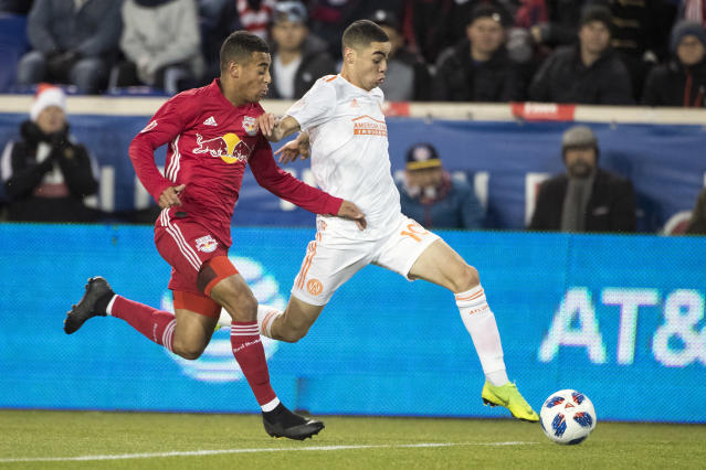 Miguel Almiron (right) and Tyler Adams are both coveted by bigger clubs abroad. And that's a great sign for MLS. (Getty)